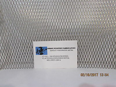 12  16 304 STAINLESS STEEL FLATTENED EXPANDED METAL-12 X 24