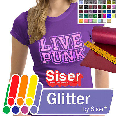 20 x 1Yard SISER GLITTER Heat Transfer Vinyl Tshirt HTV Hand IronOnHeat Press