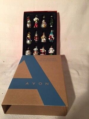2 14 Inches Tall Set of 12 Holiday Glass Ornaments