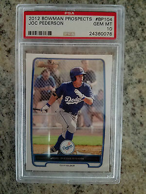 2012 Bowman Prospects Joc Pederson Rookie RC  PSA 10 GEM MINT