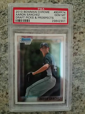 2010 Bowman Chrome Aaron Sanchez Rookie RC  PSA 10 GEM MINT