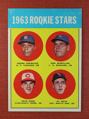 ∎ 1963 TOPPS baseball card PETE ROSE RC high 537 STUNNING