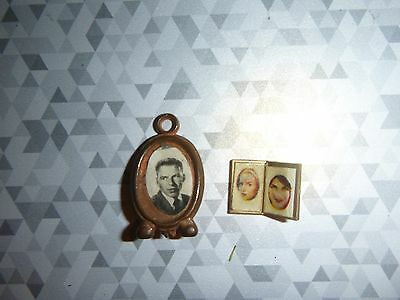 Vintage Doll House Miniature Picture Frames  Set of Two 1 12 scale