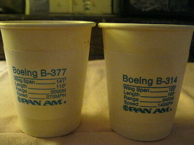 Rare Vintage Pan Am Paper cups from the 60s New 8 pieces