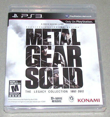 Metal Gear Solid The Legacy Collection 1987-2012 Sony PlayStation 3 2013