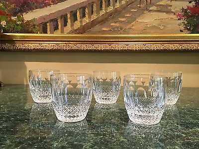 VINTAGE WATERFORD CRYSTAL OLD FASHIONED GLASSES Set of 5 COLLEEN PATTERN