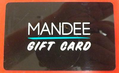MANDEE GIFT CARD MERCHANDISE CREDIT CARD 50 FREE SHIPPING - TRACKING