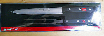 Wusthof Gourmet 2 PC Carving Set NEW IN BOX Carving Knife and Fork