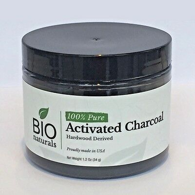 Activated Charcoal Powder Food Grade by BioNaturals Virgin NSF Certified 1-2oz