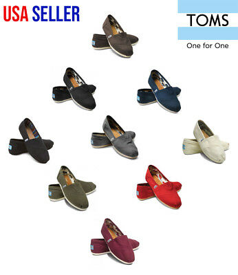 New Authentic TOMS Womens CLASSIC Solid Canvas Slip on flats shoes US Sizes