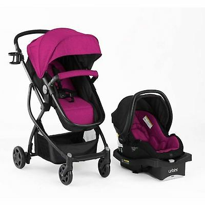 All-in-One Travel System Convertible Toddler Stroller and Infant Car Seat Viola