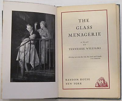 The Glass Menagerie a play by Tennessee Williams First edition First Printing