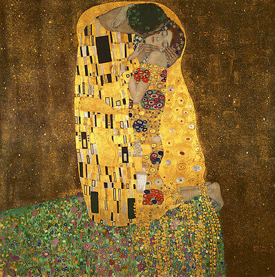 Kiss by Klimt Canvas Art Print Painting Pictures Reproduction Home Decor Framed