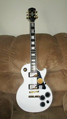 EPIPHONE Les Paul Custom Pro Electric Guitar - Alpine White - New other