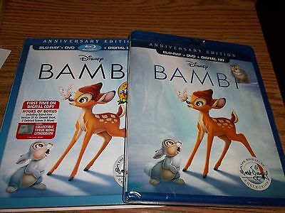 Bambi Blu-rayDVD 2017 2-Disc Set Signature EditionNew