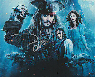 JOHNNY DEPP HAND signed Autographed 8X10 photo wCOA PIRATES OF THE CARIBBEAN