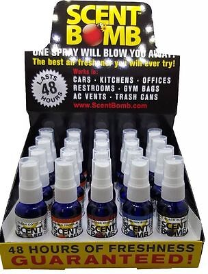 20 Bottles 5 Scents Scent Bombs Air Freshener Concentrated Odor Eliminator