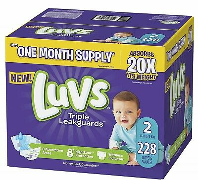NEW Luvs Ultra Leakguards Diapers Size 2 216 Count FREE SHIPPING