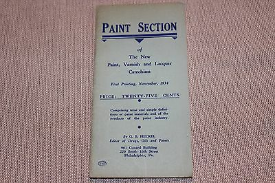 VINTAGE1934  POCKET NOTE BOOK first printing of new Paint Varnish - Lacquer