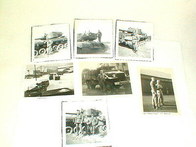 WW2 original photo lot tanks soldiers weasel vehicles 7 pictures