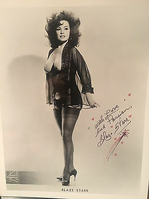 Blaze Starr Famous Stripper Signed 8x10 Photo