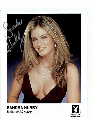 Sandra Hubby Playboy Model Signed 8x10 Photo Miss March 2004 Auto