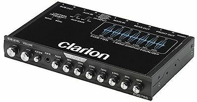 CLARION EQS755 CAR AUDIO 7-BAND GRAPHIC EQUALIZER WITH 3-5MM AUX-IN EQS 755
