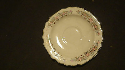 Probably antique Lido W- S- George flowers and white saucer