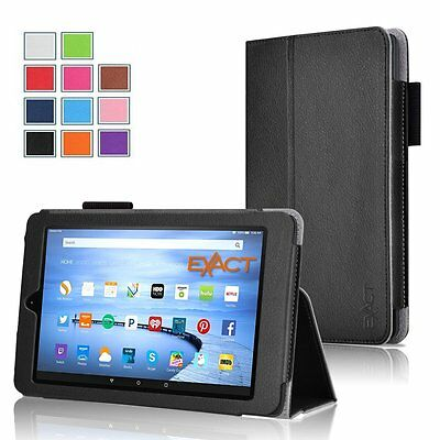 Exact Pro【PU Leather】Cover Case Stand For Amazon Kindle Fire HD 7 2015