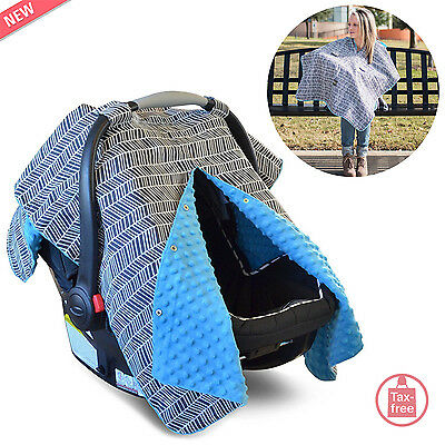 Car Seat Cover Canopy Infant Baby Carseat Set Nursing Blanket Carrier Newborn