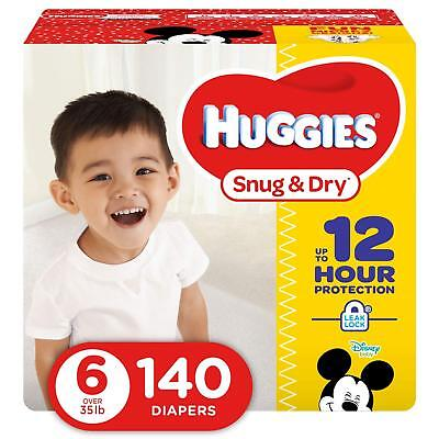 NEW Huggies Snug - Dry Diapers Size 6 140 Count FREE SHIPPING