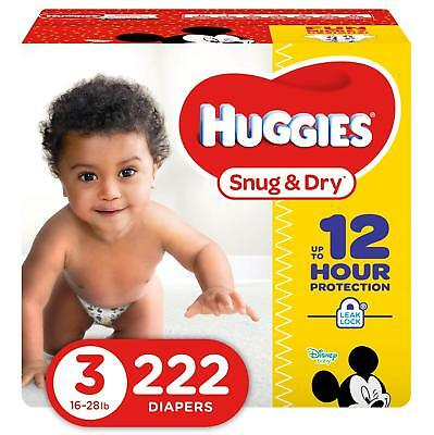 NEW Huggies Snug - Dry Diapers Size 3 222 Count FREE SHIPPING