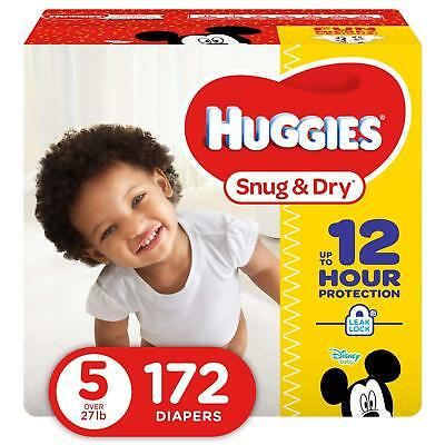 NEW Huggies Snug - Dry Diapers Size 5 172 Count FREE SHIPPING