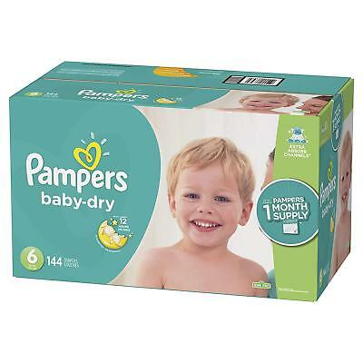 NEW Pampers Baby Dry Diapers Size 6 128 Count FREE SHIPPING