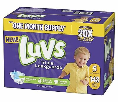 NEW Luvs Ultra Leakguards Diapers Size 5 140 Count FREE SHIPPING
