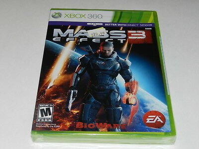 Mass Effect 3 Microsoft Xbox 360 Video Game New Sealed