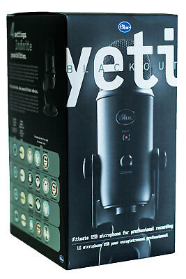 Blue Yeti Blackout Professional Omnidirectional USB Microphone with Stand Black