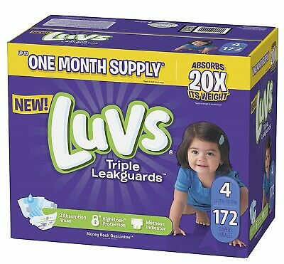 NEW Luvs Ultra Leakguards Diapers Size 4 160 Count FREE SHIPPING