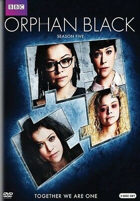 Orphan Black The Complete Fifth Season 5 DVD 2017 3-Disc Set New
