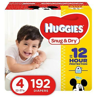NEW Huggies Snug - Dry Diapers Size 4 192 Count FREE SHIPPING