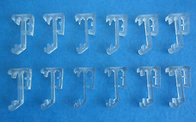 12 pcs 1 Inch Single Slat Clear Valance Retainer Clips 1 for Wood or Mini Blind