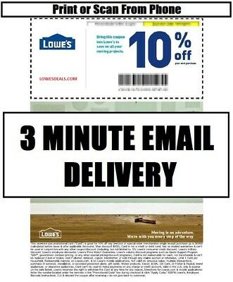 THREE 3x LOWES 10 PROMOTION INSTORE ONLINE 113017 - FAST DELIVERY