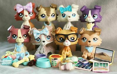 5Lot Authentic Hasbro Littlest Pet Shop LPS Collies - 10 Lot Accessories Random