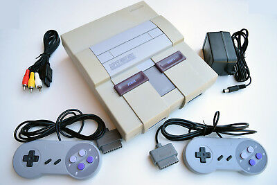Super Nintendo SNES Console Video Game System Complete
