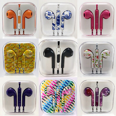 3-5mm Earbuds Earphones Headphones Headsets For iPhone and Samsung Remote - Mic