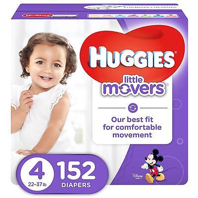 NEW Huggies Little Movers Diapers Size 4 152 Count FREE SHIPPING