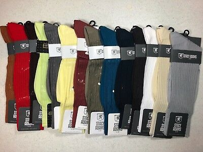 ONE PAIR BRAND NEW WITH TAG STACY ADAMS SLIKY RIBBED MENS  SHORT DRESS SOCKS