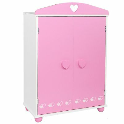 Doll Armoire Closet Bedroom Furniture For American Girl - Other 18 Dolls