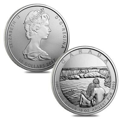 Lot of 2 - 2017 10 oz Silver Canada the Great CTG Niagara Falls 50 Coin