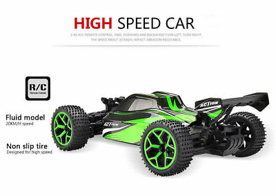 118 RC Car 4WD Off-Road Truck Extreme High Speed RC Vehicle Buggy Car Green